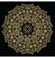 Round golden mandala vector image