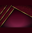abstract 3d background with red layers geometric vector image vector image