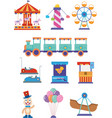 amusement park icon vector image vector image