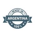 argentina stamp design vector image vector image