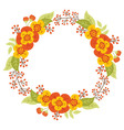 Autumn Floral Wreath vector image vector image