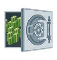 bank vault door flat cartoon vector image vector image
