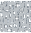 Beer seamless pattern with flat element vector image