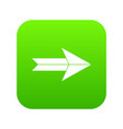 big arrow icon digital green vector image vector image