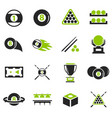 billiard icons set vector image vector image