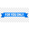 blue stripe with for you only title vector image vector image