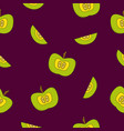 bright seamless pattern with lovely apples vector image vector image