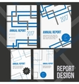 Brochure cover design templates with abstract vector image vector image