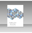 brochure design with abstract triangles vector image