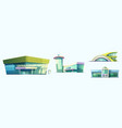 bus or train station airport termintal and port vector image