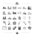 business bank trade and other web icon in black vector image vector image
