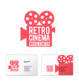 camera cinema logo movie center production vector image