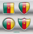 cameroon flag in 4 shapes collection vector image vector image