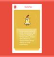 candle mobile vertical banner design design vector image