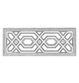 Ceiling design germany vintage engraving vector image
