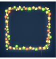 Christmas and New Year Garland Light Design on vector image