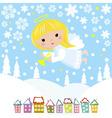 Christmas angel vector image vector image