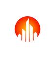 cityscape building round logo vector image vector image