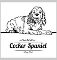 cocker spaniel dog - for t vector image vector image