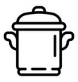 cooker pot icon outline style vector image