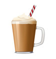 cup of ice coffee icon realistic style vector image