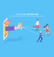 customer retention improving client loyalty vector image