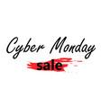 cyber monday sale logo vector image