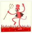 dancing satan vector image vector image