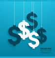 dollar signs hanging on the ropes vector image