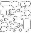 doodle of speech bubble style hand draw vector image
