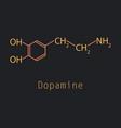 dopamine icon vector image vector image