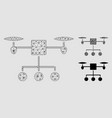 drone distribution mesh network model and vector image vector image