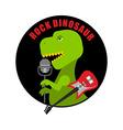 emblem rock dinosaur logo for old fans rock vector image vector image