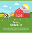farm building - rural barn vector image