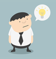 Fat businessman with ideas themselves vector image vector image