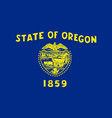 flag of the usa state of oregon vector image vector image
