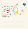 Flat line Infographic Education 2017 concept vector image