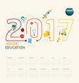 Flat line Infographic Education 2017 concept