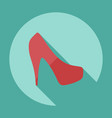 flat modern design with shadow icon womens shoes vector image vector image