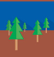 forest icon set of great flat icons with style vector image