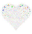 fork and spoon fireworks heart vector image vector image