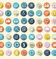 icons flat set vector image