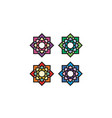 islamic asian stained glass pattern mosaic logo vector image vector image