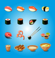 japan sushi food asia tasty culture oriental vector image vector image