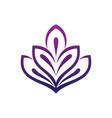 leaf ecology logo vector image vector image