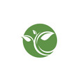 logos of green leaf ecology nature element icon vector image vector image