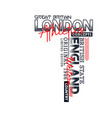 london sport typography design vector image