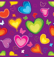 love hearts seamless pattern valentines day vector image vector image