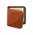 male leather wallet isolated icon vector image vector image