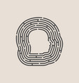 man avatar in circular maze vector image